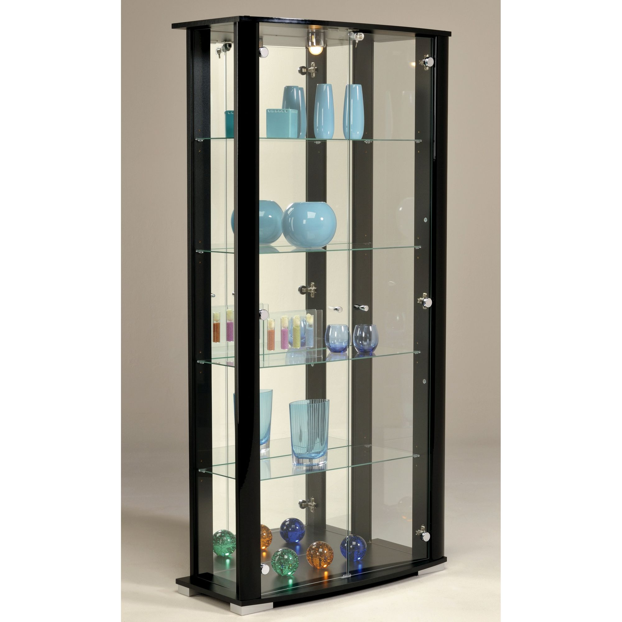 Parisot Ella Display Cabinet - Black at Tesco Direct