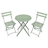 Bentley Garden 3 Piece Metal Garden Patio Furniture Bistro Set Table & 2 Chairs