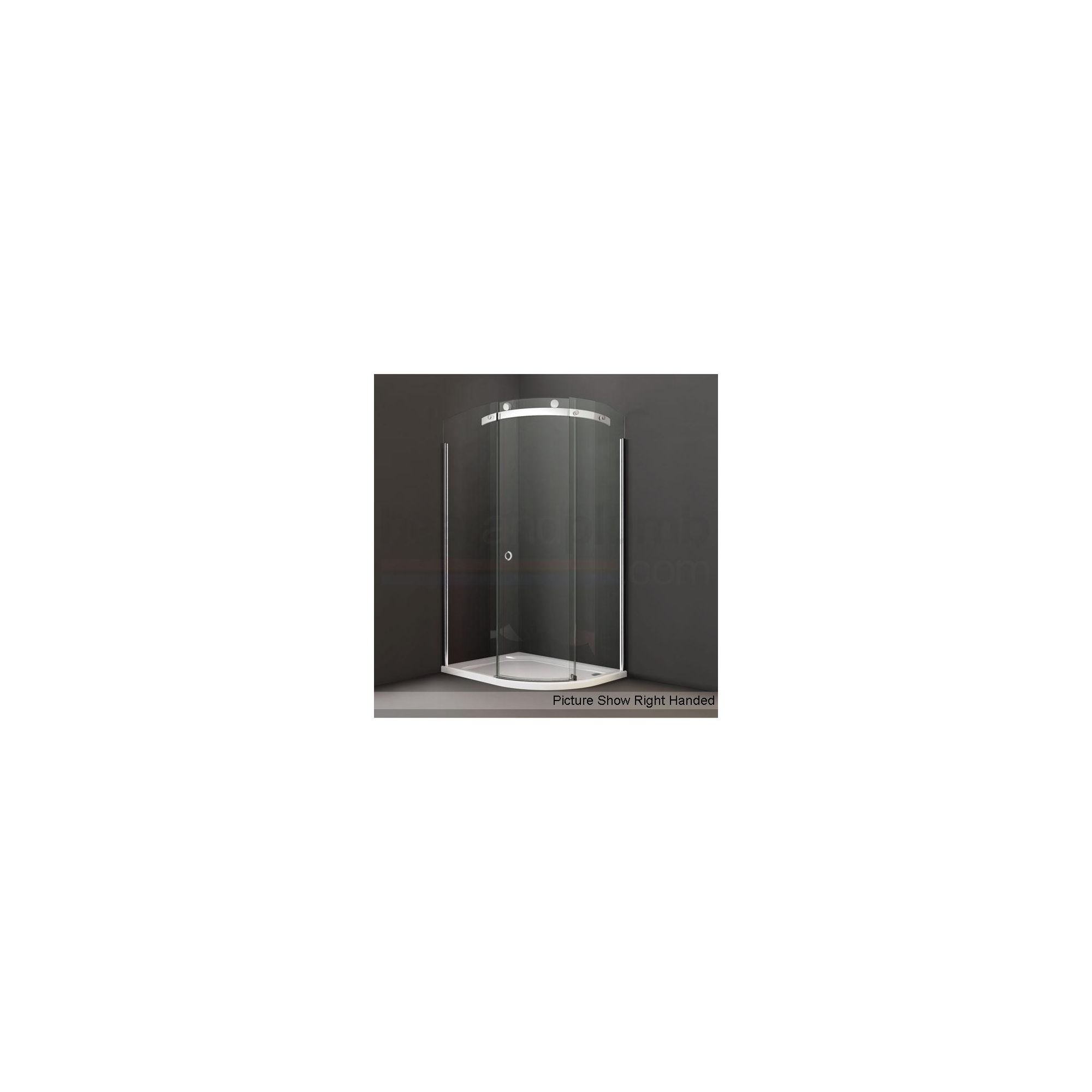 Merlyn Series 10 Offset Quadrant Sliding Door Shower Enclosure, 1000mm x 800mm, Low Profile Tray, 10mm Glass at Tesco Direct
