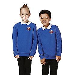 Unisex Embroidered School Sweatshirt years 05 - 06 Blue