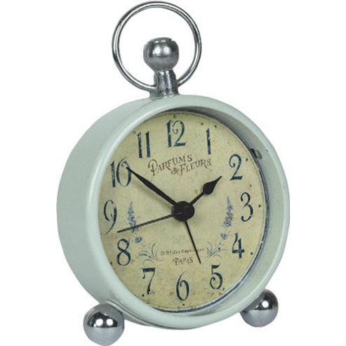 Roger Lascelles Clocks Lavander Motif Bedside Clock
