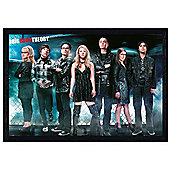 The Big Bang Theory Black Wooden Framed Sci Fi Nerds TBBT Poster