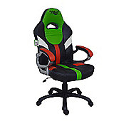 EarthCroc Y-2000 Green White Red Office Racing Gaming Chair