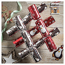 Penguin Christmas Crackers, 6 pack