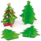 3D Christmas Tree Blanks to Personalise (10 Pcs)