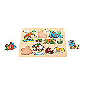 Bigjigs Toys BJ095 Wildlife Lift Out Puzzle