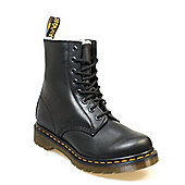 Dr. Martens Serena Womens Black Leather Shearling Ankle Boots - Black