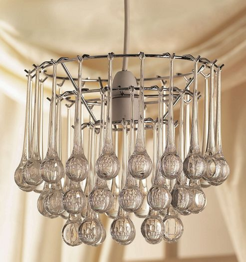 Loxton Lighting 1 Light Snowdrop Pendant in Clear Acrylic