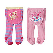 Baby Born Tights 2 Pack - Puppy