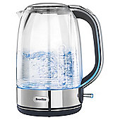 Breville Crystal Clear Glass Jug Kettle, 1.7L - Stainless Steel