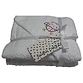 Hooded Towel CT Cotton Tail Red Kite