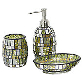 CIMC Home Mosaic Bathroom Set - Amber Green