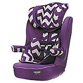 OBaby Group 1-2-3 High Back Booster Car Seat (ZigZag Purple)