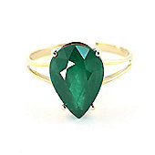 QP Jewellers 3.50ct Emerald Pear Drop Ring in 14K Gold