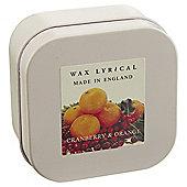 Wax Lyrical Made in England Cranberry & Orange Candle Tin
