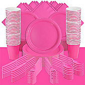 Hot Bright Pink Party Pack For 100