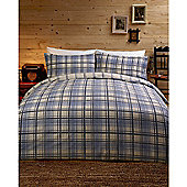 Dreams n Drapes Argyll Blue Single Quilt Set