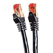 Duronic Black 5m CAT6a FTP Gold Headed Shielded Network Cable - Black