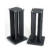 Atacama Pair of Speaker Stands in Black - Height 600mm