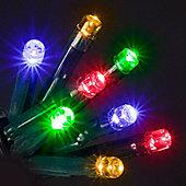 160 Chasing Micro Lights Multi Col Bulbs with Memory