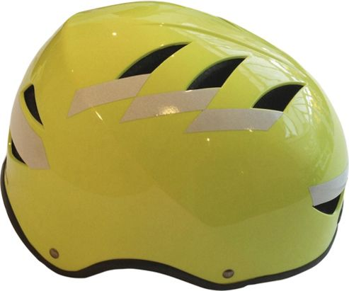 Hardnutz Hi Vis Reflective Yellow Bike Helmet, Large