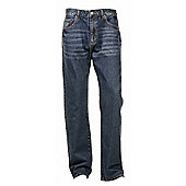 "Ciro Citterio Denim Straight Cut Mens Jeans - 30"" Leg - Mid blue"
