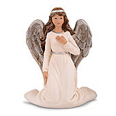 Traditional Look Kneeling Resin Christmas Angel Ornament