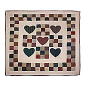 Woven Magic Country Heart Crib Throw