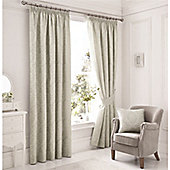 Serene Laurent Rose Lined Curtains - Silver