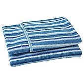 Clair de Lune Fun & Funky Pram Blanket - Sherbet Blue
