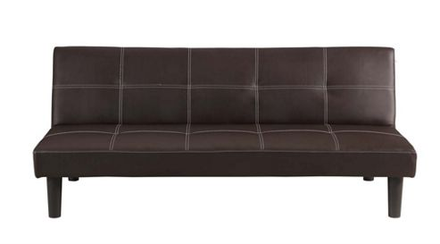 Buy Homegear Faux Leather 2 Seater Folding Sofa Bed Brown