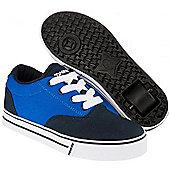 NEW Heelys Launch 2.0 Boys/Girls Roller Skating Shoe Trainer - JNR 12-UK7 - Blue