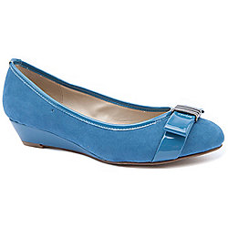 Emilio Luca X Ladies Palmela Blue Wedge Shoes