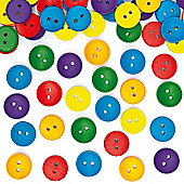 Coloured Wooden Buttons (Pack of 100)