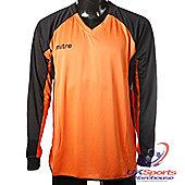 Mitre Aren DryCool Long Sleeved Football Shirt Jersey Orange/Black - Orange & Black