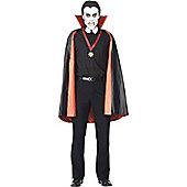 Vampire Cape - Adult Costume Size: 38-40