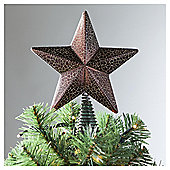 Tesco Gold Cracked Texture Tree Topper