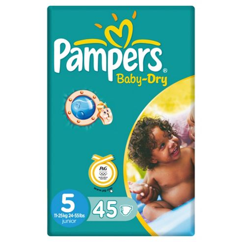 Pampers Baby Dry Economy Pack Junior 45 (Size 5)