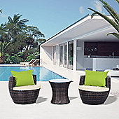 Outsunny Outdoor Rattan 3PC Stackable Vase Set Mixed Brown