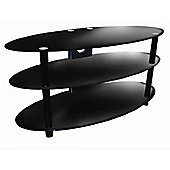 ValuFurniture Black Glass Oval TV Stand for up to 60 inch TVs