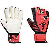 Precision Football Matrix Electra Rollfinger Soccer Goalkeeper Gloves - Red