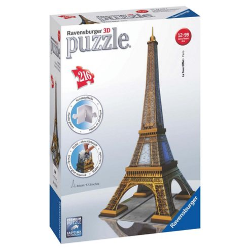 Ravensburger Eiffel Tower 216pc 3D Puzzle