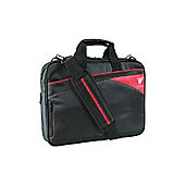V7 Edge Slim Laptop Toploader Case Black and Red