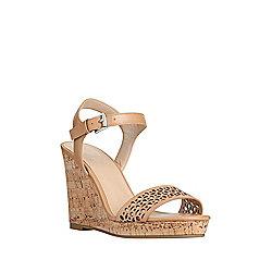F&F Laser Cut Wedge Sandals Adult 05 Tan