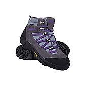 Edinburgh Vibram Kids Childrens Boys Girls Waterproof Walking Boots Shoes - Grey