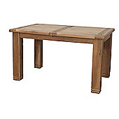 Furniture Link Danube Extending Table in Weathered Solid Oak - 140cm