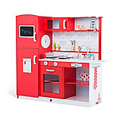 Terrace Wooden Kitchen – Red Apple