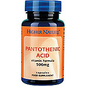 Higher Nature Pantothenic Acid 500Mg 60 Veg Tablets