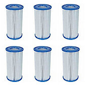 "Bestway Filter Cartridge III (4.2"" x 8"") 6x Pack"