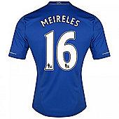 2012-13 Chelsea Home Shirt (Meireles 16) - Kids - Blue